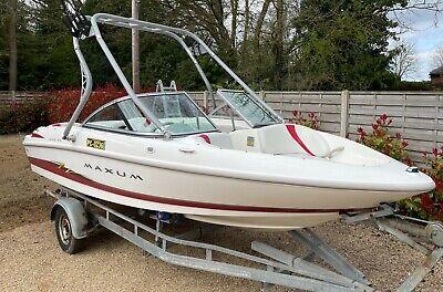 MAXUM 1800 MX Bowrider Speed Boat. 18', 2004, Mercury 3L inboard Engine