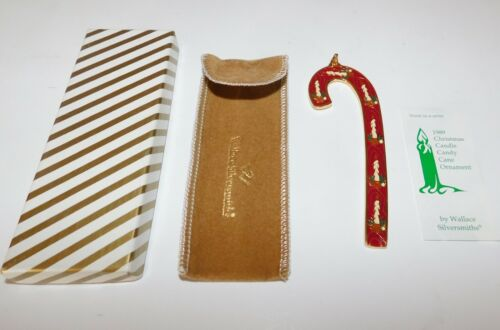 Wallace Silversmith Annual Candy Cane Ornament 1989 Christmas Candle