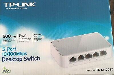 TP-LINK TL-SF1005D 5-Port 10/100 Mbps Unmanaged Desktop Switch  UK Brand New