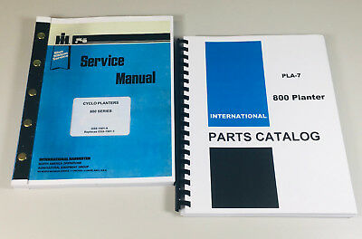 International 800 Series Cyclo Planter Service Repair Shop Manual Parts Catalog