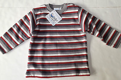 Under the Nile Organic Cotton Sherpa Top Sz 12 mo~Panda Stripe~New Tags