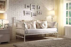 NEW DAY BED Single Day Bed.Wrought Iron White $399. RENT $4.70 PW Ipswich Region Preview