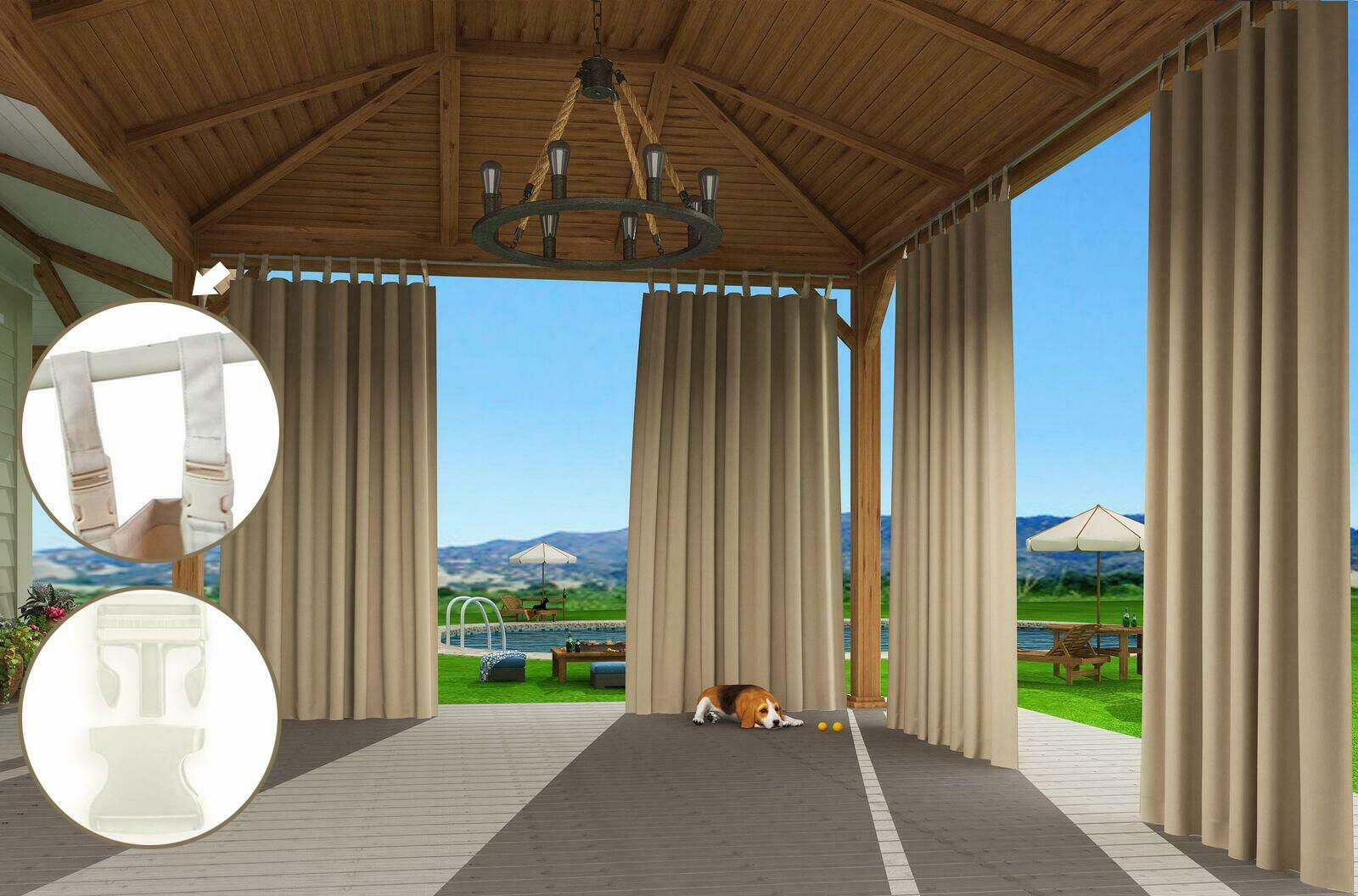 Clothink Outdoor Patio Curtain Buckle
