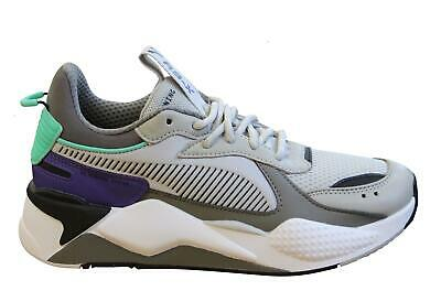 Puma RS-X Tracks Chunky Grey Textile Lace Up Mens Trainers 369332 01 X51A