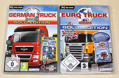 2 PC SPIELE SAMMLUNG GERMAN TRUCK GOLD EURO SIMULATOR GOLD - TRUCKER LKW FAHREN (Truck Simulator Pc Spiele)