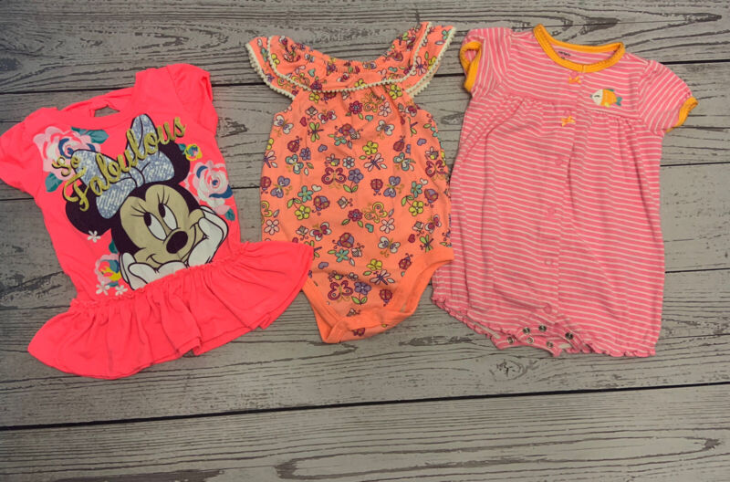 3 Piece Mix lot Baby Girl 18 Month Spring/summer Clothes