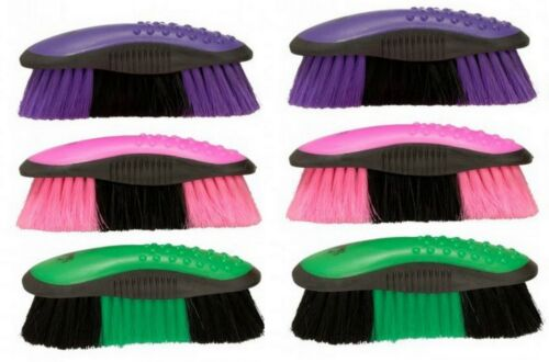 6 Pack Great Grips Ergonomic Assorted Colors Grooming Brushes Horse Tack Equine