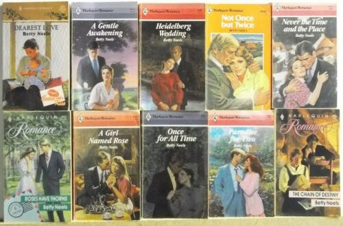 Lot of 10 Romance Books By BETTY NEELS FREE US S/H Read List Lot #H711