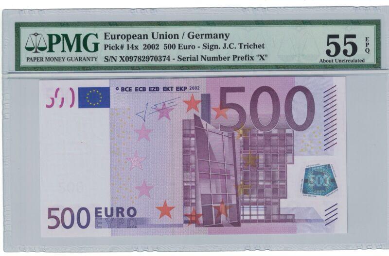 2002 European Union Germany P-14X 500 Euro AU PMG 55 EPQ @$@