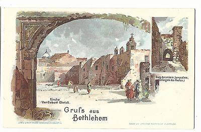 Israel Palestine Gruss Aus Bethlehem Vintage Old Judaica Jew Jewish Postcard