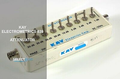 Kay Elemetrics 839 Dc - 2 Ghz 50 0-101 Db Attenuator Look Ref 277g