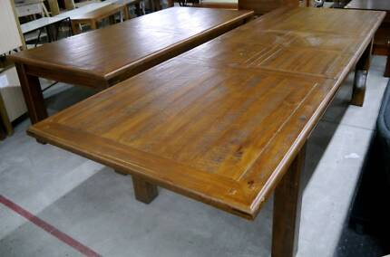 New Farmhouse Rustic Timber Large Extension Dining Table