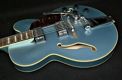 Used, IBANEZ ARTCORE AFS75T-STF ARCHTOP ELECTRIC SEMI HOLLOW & BIGSBY Metallic Green  for sale  Tomah