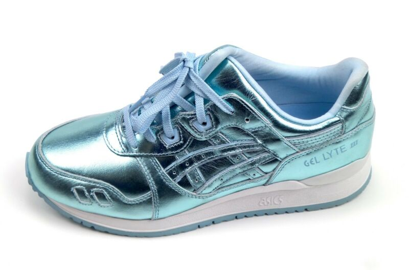 new product 31be2 7173b Details about Asics Gel Lyte III 3 Metallic Silver White Blue H6E5K Liquid  Metal Holiday
