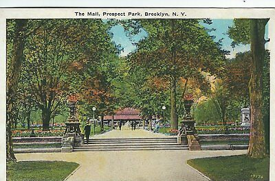 Old NY Postcard The Mall Prospect Park Brooklyn Ny Postcard 1C (Brooklyn Mall New York)