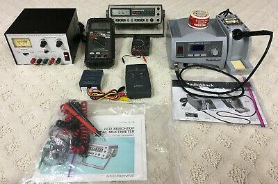Radio Shack Bundle Soldering Stationmulti-meters Power Supply And Extras