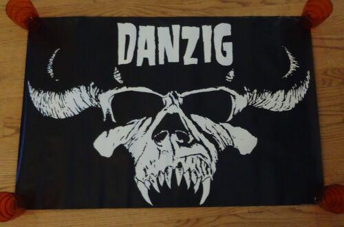Danzig Poster 1988 Original 35x23 (skull) Def American RARE Misfits Samhain