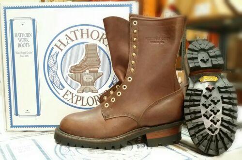 """Hathorn Explorer 10"""" Smokejumper Wildland Boots - Brown"""
