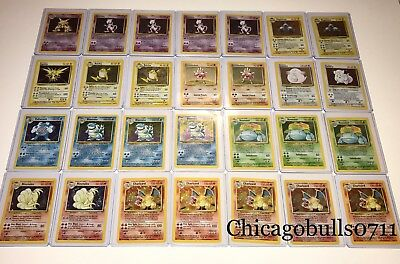 Original Vintage Pokemon Cards 10 Card Lot 1St Edition   Holo   Rare