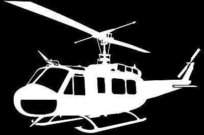 IROQUOIS UH-1H  'HUEY' HELICOPTER -  Adhesive Cut Vinyl Decal - Last 6 years!!!  for sale  Shipping to United States
