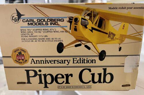 Carl Goldberg Piper Cub Anniversary Edition Kit Vintage RC Plane 76 Wingspan - $249.00