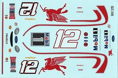 NASCAR DECAL #12 MOBILE 1 25TH ANNIVERSARY MAYFIELD 1999 - 1/24
