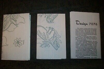 Vintage 1946 Household Arts Design 7076 Embroidery Quilt Transfer Birds & States