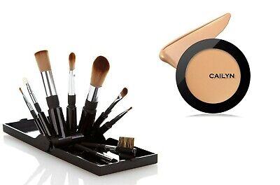Cailyn HD Foundation Matte Full Coverage for SENSITIVE Skin +Travel Brush Set