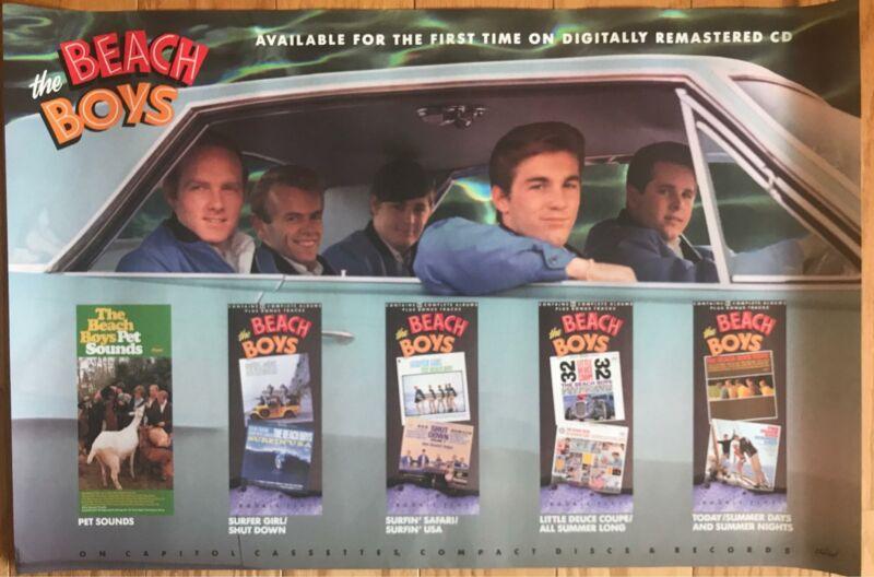 The Beach Boys Good Vibrations 1990 Original CD Release Promo Poster  20 x 30