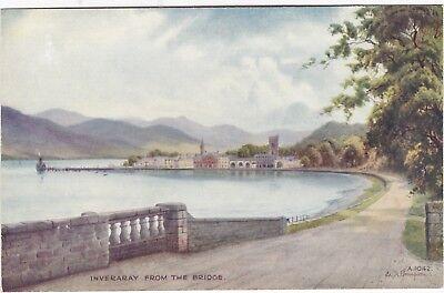 Artist Drawn, View From The Bridge, INVERARAY, Argyllshire - Ed. H. Thompson