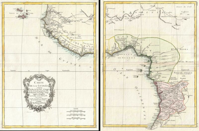 1771 Set of Two Bonne Maps of West Africa