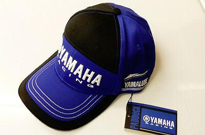 New Genuine Yamaha Baseball Cap Hat Adult Size Blue & Black Ref. N18FH302E100