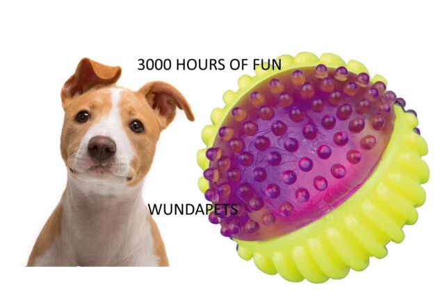 TRIXIE FLASHING FLOATING RUBBER BOUNCING BALL DOG TOY ROBUST 3000 HOURS 33641