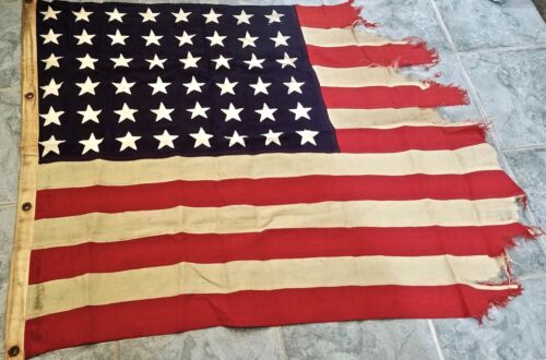 World War II Flag from U.S.S. Ellyson in Okinawa day after Roosevelt