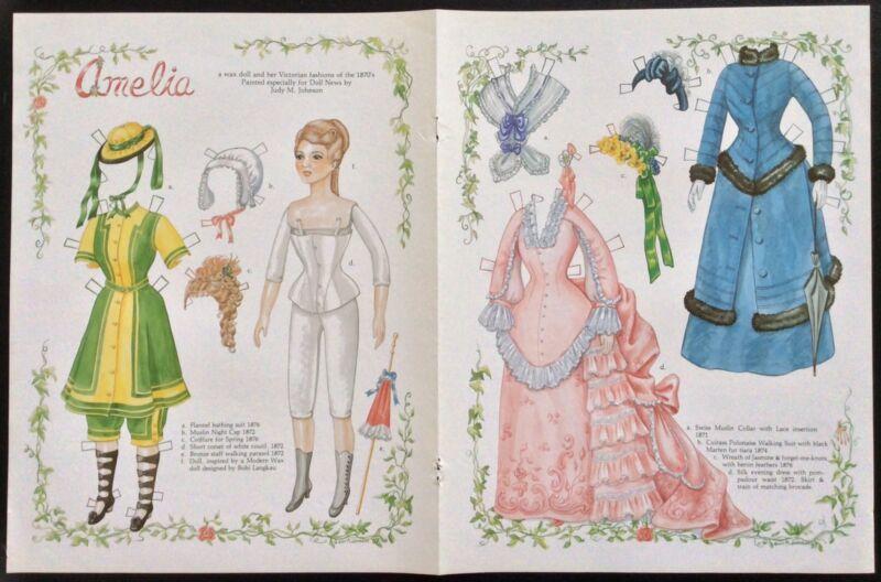 Amelia, a Wax Doll Mag. Paper Doll By Judy Johnson, 1987