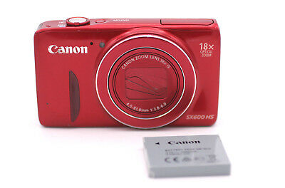 Canon PowerShot SX600 HS 16.0MP Digital Camera - Red