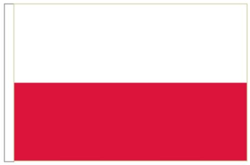Poland Federal Sleeved Courtesy Flag ideal for Boats 45cm x 30cm