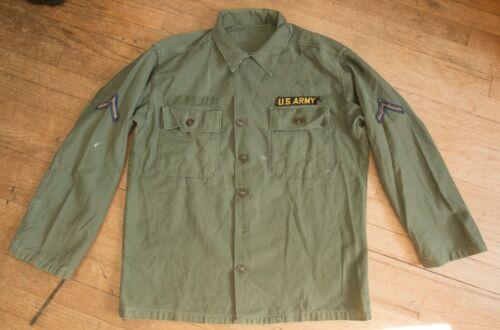Type 1 OG-107 Sateen US Army issued shirt 50s-60s era large size