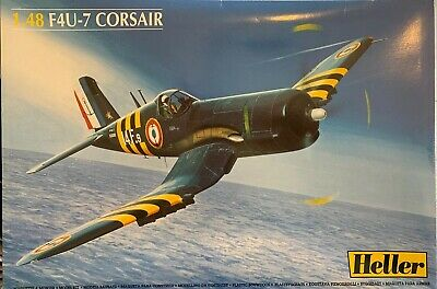 1/48 F4U-7 Corsair Model Kit 80415 by Heller Extra Decals And Etched Cockpit