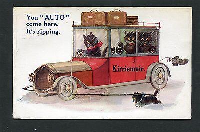 Kirriemuir Angus - Mailing Novelty Card p/u 1928
