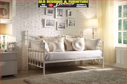 NEW SINGLE DAY BED WITH OPTIONAL TRUNDLE. WROUGHT IRON.