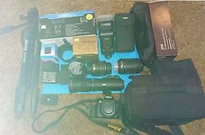 NIKON D 3100 DIGITAL SLR CAMERA WITH 4 LENSES AND ACCESSORIES Fulham Gardens Charles Sturt Area Preview
