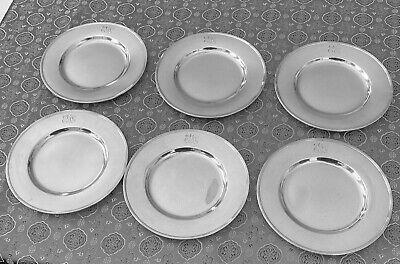 Silver Plate Monogram Frank Vintage Child/'s Three Piece Dinner Set