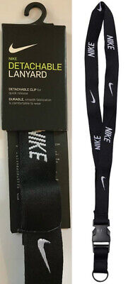 Nike Lanyard NEW Black UK Seller - Keyring ID Holder Strap Retail Packed
