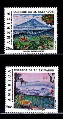 SELLOS EL SALVADOR 1990 TEMA AMERICA UPAEP  1078/88 2v.