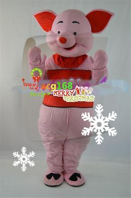 Piglet Costume Pink Pig Cartoon Mascot Winnie The Pooh Party Dress Parade Outfit (Piglet Winnie The Pooh Costume)