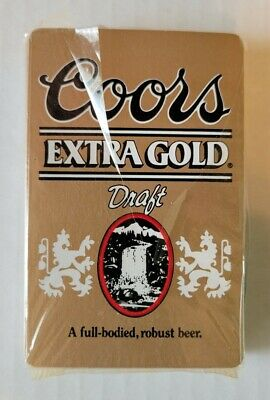 Vintage Coors Extra Gold Draft Playing Cards