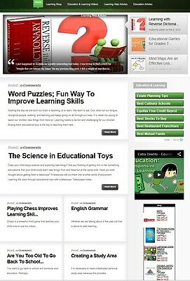 Learning Education Website Business For Sale With Search Engine Friendly Cont