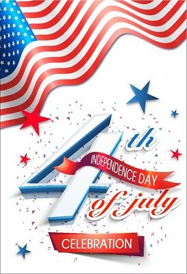 Independence Day Decorations (4th July Independence Day Garden Flag Banner 12x18 2-Sided Heavy Duty Yard)