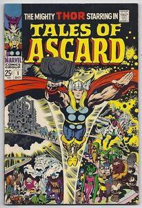(1968) TALES OF ASGARD #1 THOR! LOKI! ODIN! JACK KIRBY ART! 6.0 / FINE